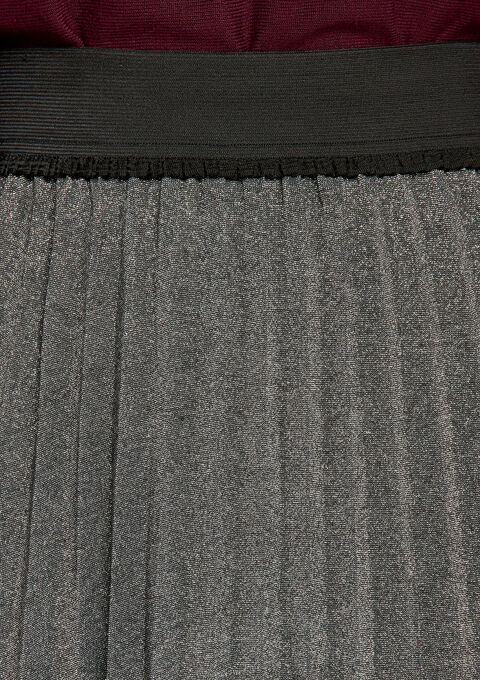 Halflange rok , plissé, lurex - SILVER - 927740