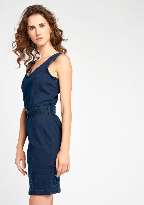 Jeansjurk zonder mouwen - DARK BLUE - 08005961_501