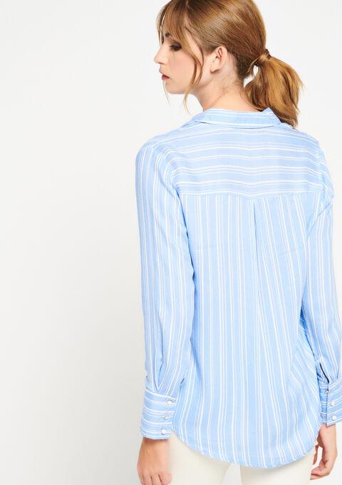 Hemd met strepen - REGATTA BLUE - 05700544_1547