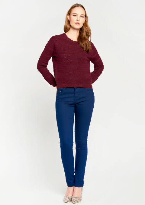 Slim fit broek met normale taille - NAVY PAPER - 06003557_2708