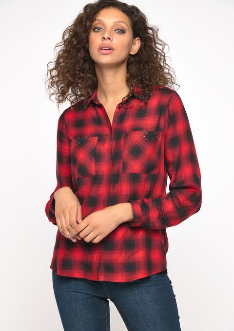 Chemise à carreaux - FIERY RED - 05700565_1380