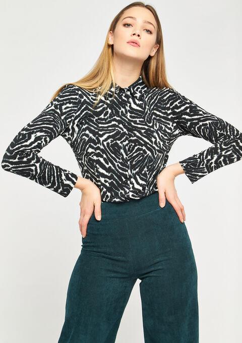 Hemd met zebra print - BLACK - 02400111_1119