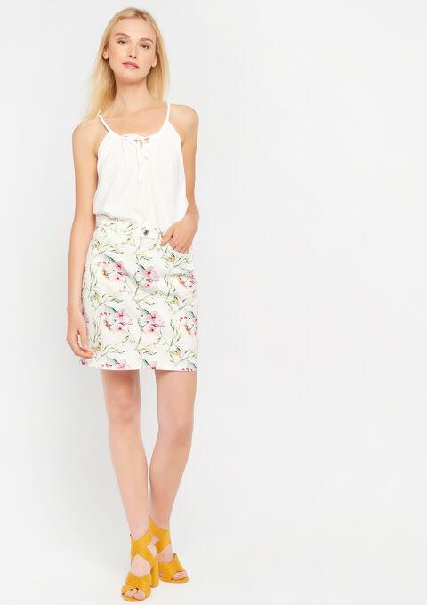 Rok met bloemenprint - WHITE ALYSSUM - 07100197_2502