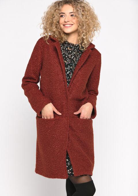 Manteau avec boutons - DARK RUST - 23000215_699