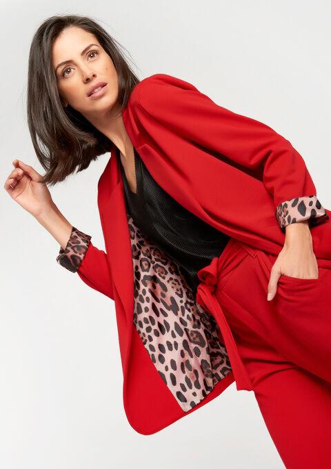 Blazer avec doublure léopard - JESTER RED - 09100107_1445