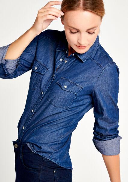 Klassiek jeanshemd - DARK BLUE - 05003464_501