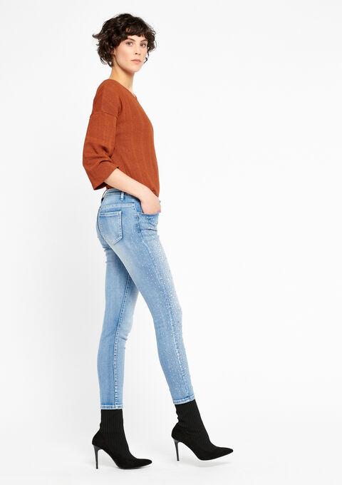 Skinny jeans met strass regen - MEDIUM BLUE - 22000106_500
