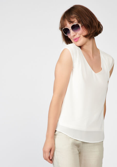 Losse blouse - OFFWHITE - 05003312_1001