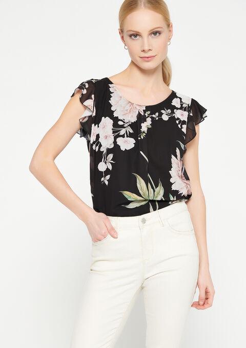 Shirt met bloemenprint - BLACK - 05701429_1119
