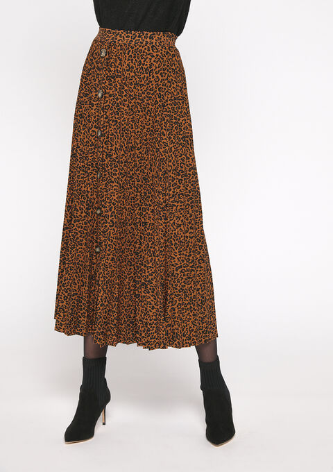 Lange jurk plissé - YELLOW AUTUMN - 07100275_5106