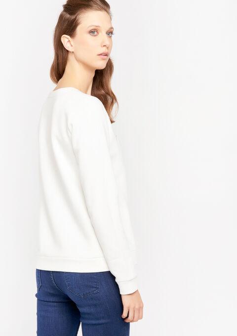 Sweater met slogan - WHITE ALYSSUM - 03001440_2502