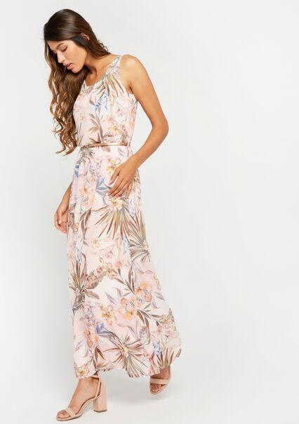 ce4f1c65e3c68b Lange jurk met bloemenprint