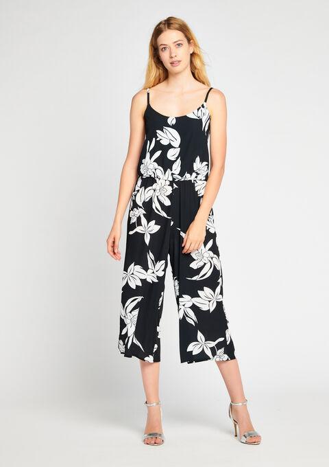 Kneelength jumpsuit with print - BLACK - 06003680_1119