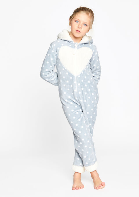 Kinder onesie, konijn - LIGHT GREY - 15000428_1076