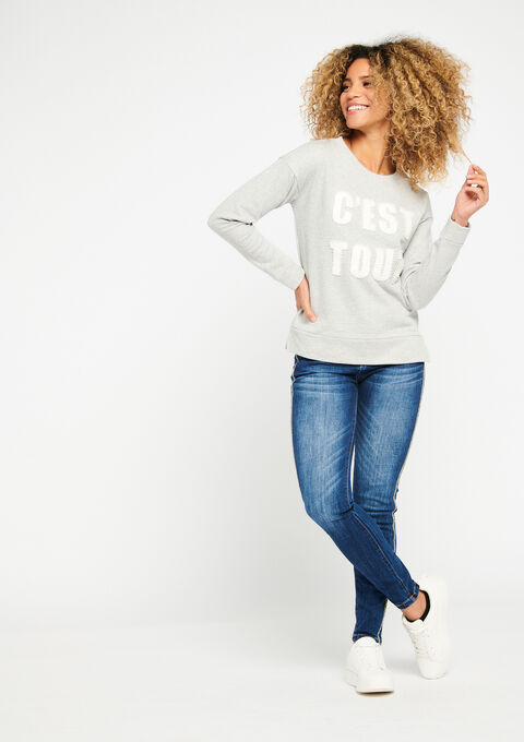 Sweater fantasie - MED GREY MEL - 03001245_1063