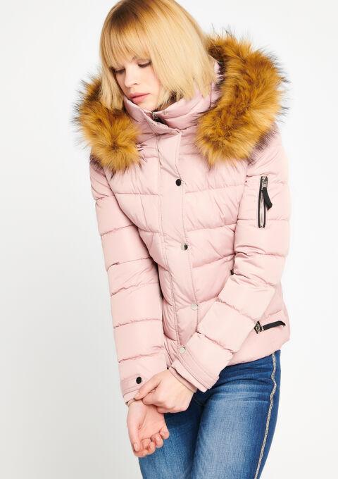 Gewatteerde jas met kap - LIGHT PINK - 23000043_1303