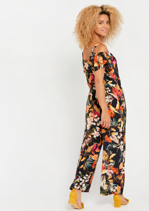 Jumpsuit met bloemenprint - BLACK - 06003955_1119