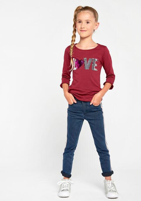 T-shirt met lovertjes - BEET CHERRY - 02005587_553