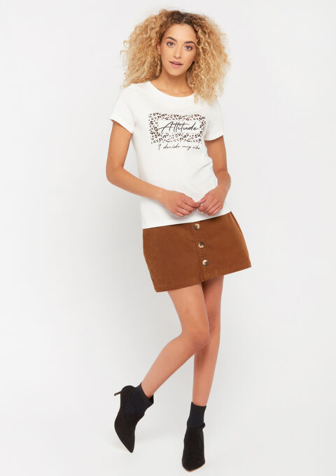 T-shirt avec slogan - WHITE ALYSSUM - 02300375_2502
