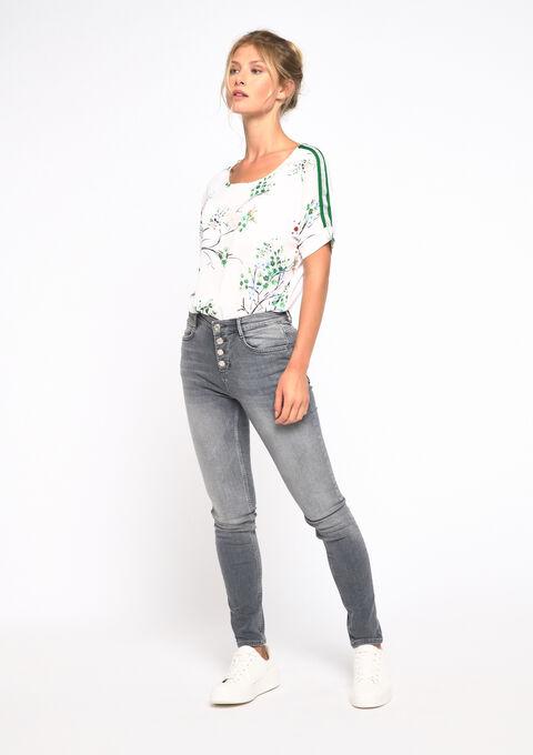 Skinny jeans met knopen - MEDIUM GREY MELANGE - 22000148_641