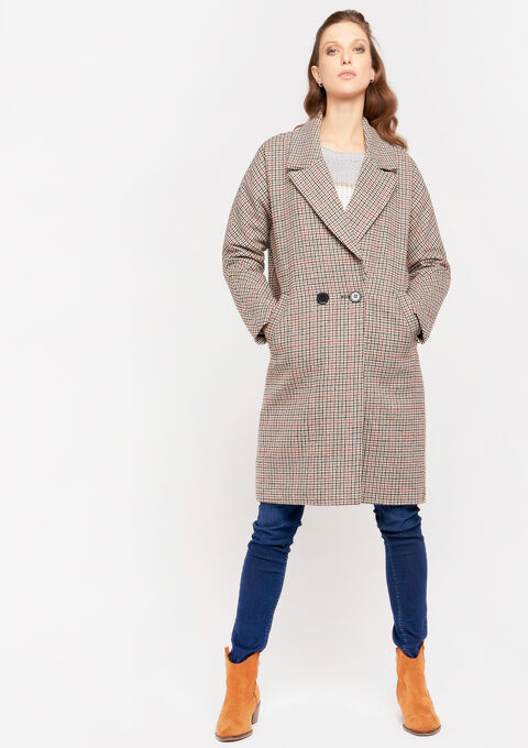 Oversized coat - TAUPE NOMADE - 23000151_1905