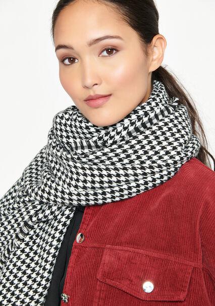 Sjaal met grafische print - BLACK - 17100442_1119