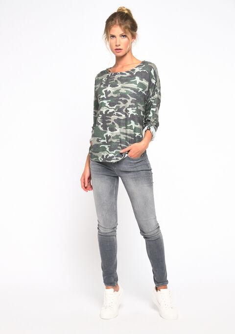 Sweat camouflage - KHAKI FIG - 03001395_4305