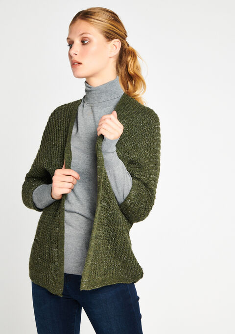 Cardigan - KHAKI FIG - 04100591_4305