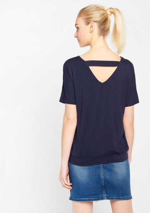 T-shirt met v-hals, vleermuismouw - NAVY HEAVEN - 02500003_2711