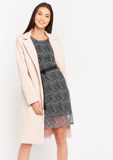 Long coat with buttons and pockets - LIGHT PINK - 23000251_1303