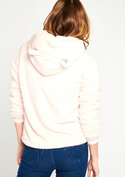 Hoody in fleece 'Kat' - PINK BLOSSOM - 15000432_1971