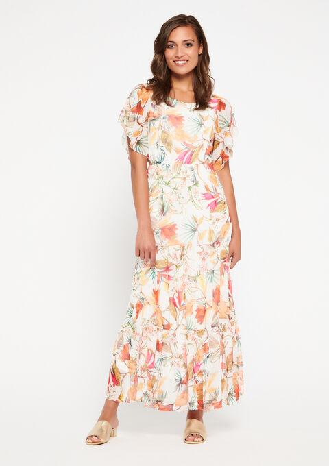Robe longue à fleurs - WHITE ALYSSUM - 08600600_2502
