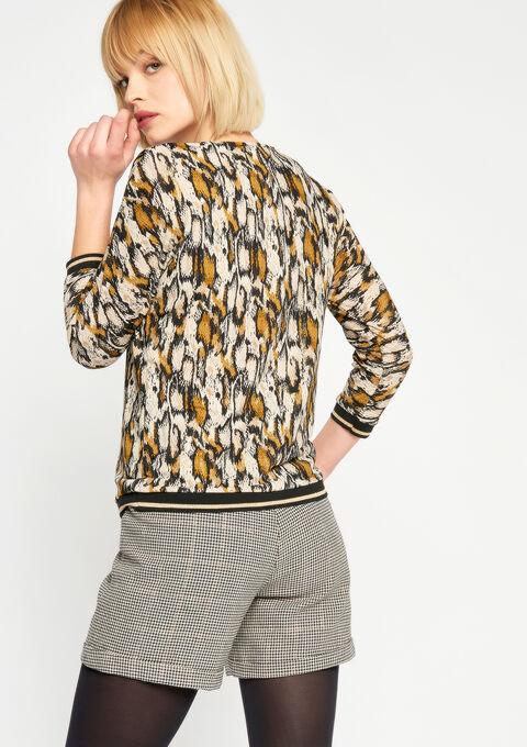 T-shirt met pythonprint - GOLDEN OCHER - 02300141_1239