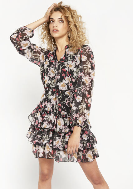 Bloemenprint jurk  - BLACK BEAUTY - 08102637_2600