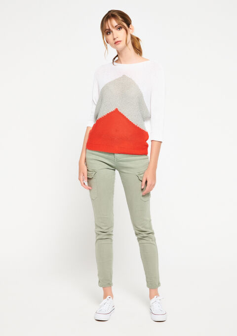 Pull color block - RED VIBRANT - 04004925_5308