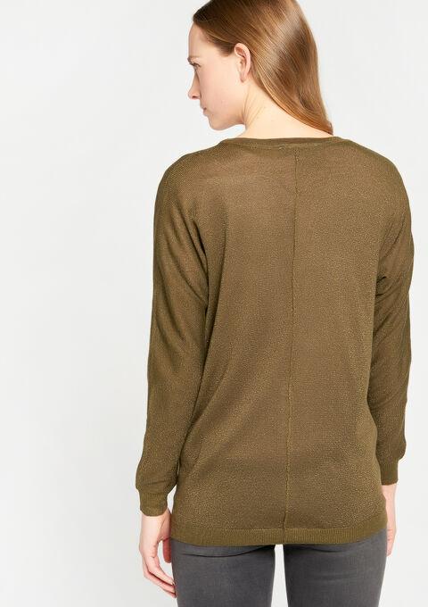 Basic cardigan - DARK OLIVE - 04100584_1886