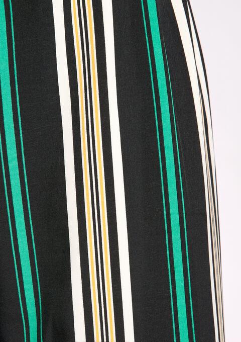 Pantalon large fluide, rayure - BLACK - 06003614_1119