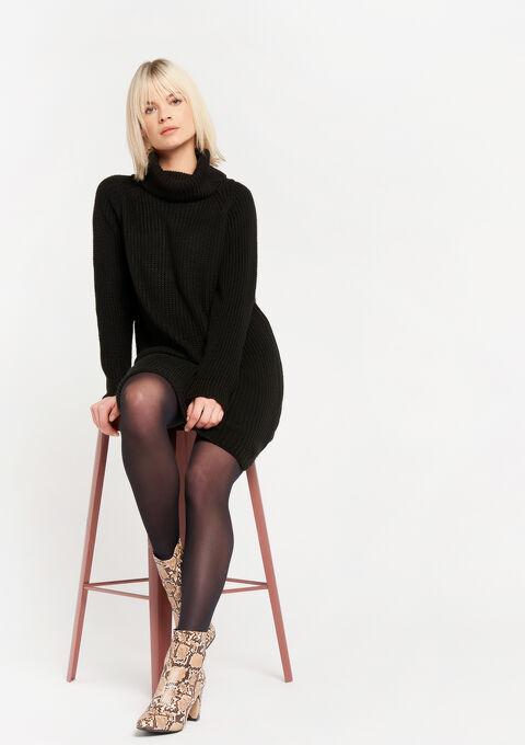 Trui-jurk met col - BLACK BEAUTY - 08102079_2600
