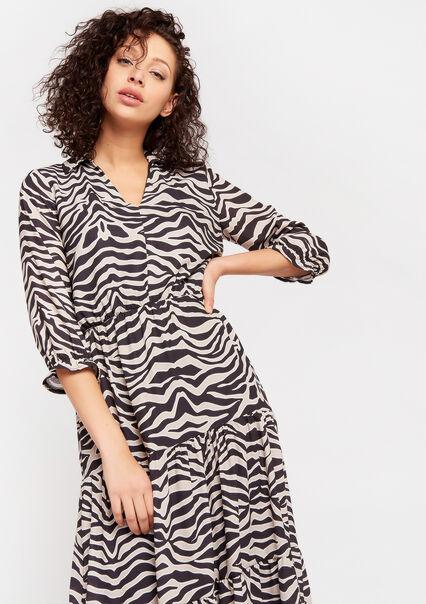 Robe imprimé zèbre - BLACK - 08601068_1119