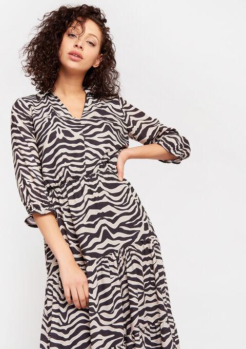 Jurk met zebra print - BLACK - 08601068_1119