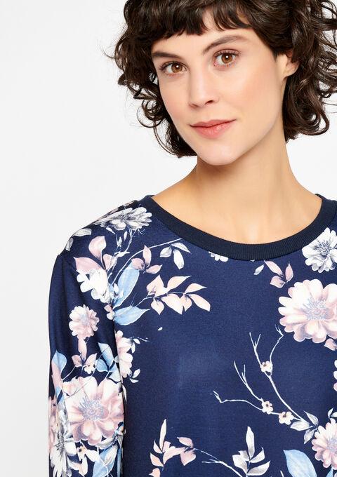 Sweatshirt met bloemenprint - NAVY HEAVEN - 03001344_2711