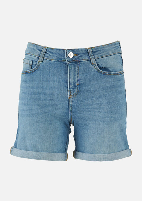 Jeans shorts denim - BLUE BLEACHED - 22000180_502
