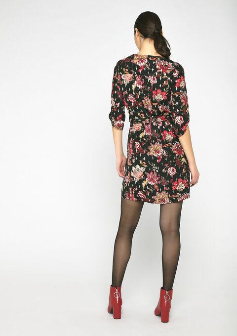 Mini jurk met print - BLACK - 08101597_1119