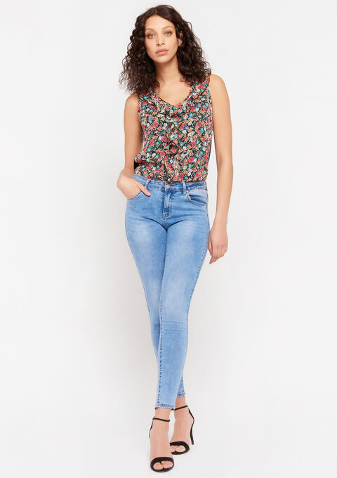 Skinny jeans - BLUE BLEACHED - 22000240_0502