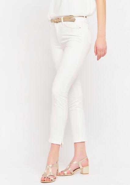 Skinny broek met rits - NATURAL WHITE - 06004011_2510
