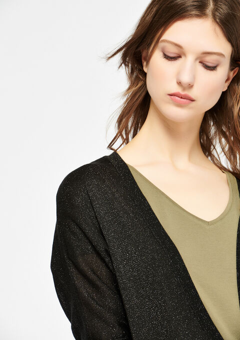 Basic cardigan - BLACK - 04100584_1119