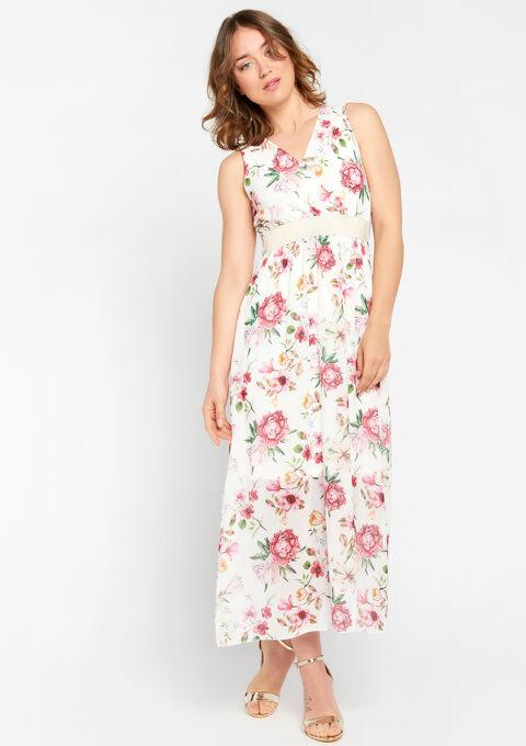Robe longue, cache coeur, fleurs - PINK CALM - 08600120_4102