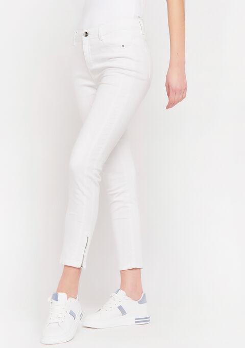 Skinny broek met rits - REAL WHITE - 06004003_2509