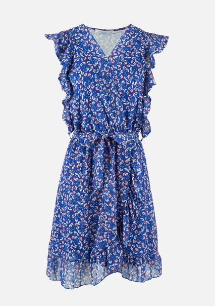 Mini jurk liberty print - BRIGHTY BLUE - 08102235_2807