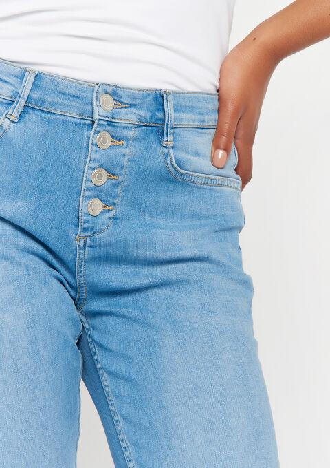 Denim skinny broek - BLUE BLEACHED - 22000143_502